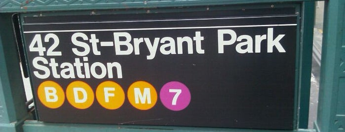 MTA Subway - 42nd St/Bryant Park (B/D/F/M/7) is one of IRT Flushing Line (7) <7>.