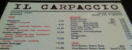 Il Carpaccio is one of To Eat (Italian).