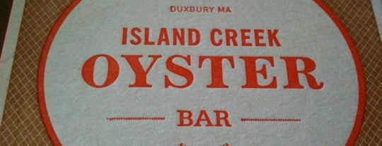 Island Creek Oyster Bar is one of the best of #yum.