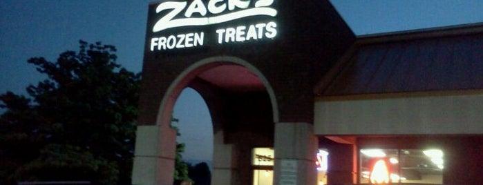 Zack's Famous Frozen Yogurt is one of Lugares favoritos de Katrina.