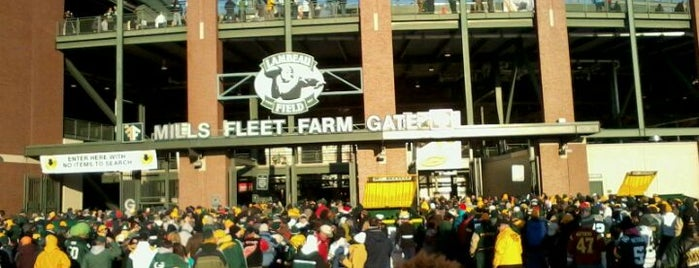 Lambeau Field is one of Stadiums Visited.