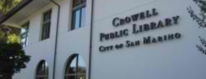 Crowell Public Library, City of San Marino is one of LA Places.