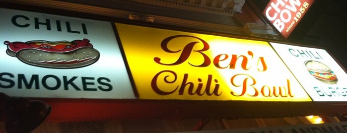 Ben's Chili Bowl is one of DMc does DC - eatz.