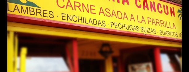 Taqueria Cancún is one of Restaurants I've tried.