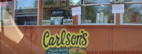 Carlson's Drive-in is one of Places I Need To Visit Or Go Back To.