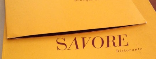 Savore is one of Restaurants.