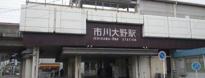 Ichikawaōno Station is one of JR 키타칸토지방역 (JR 北関東地方の駅).