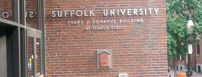 Suffolk University's Donahue Building is one of Suffolk University.