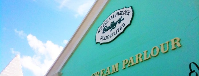 Bailey's Ice Cream Parlour is one of Bermuda Spots.