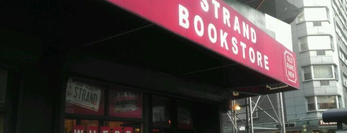 Strand Bookstore is one of NYC's Greenwich Village.