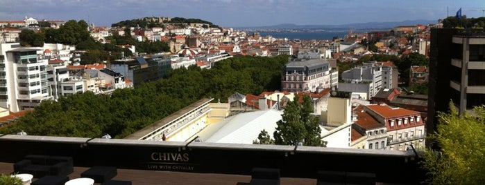 Sky Bar is one of Lisbon top terraces & rooftops.