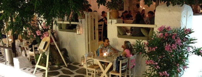 M-eating is one of Mykonos.