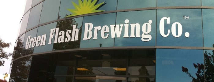 Green Flash Brewing Company is one of Craft Beer Hot Spots in San Diego.
