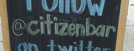 Citizen Bar Chicago is one of Happy Hour Hot Spots.
