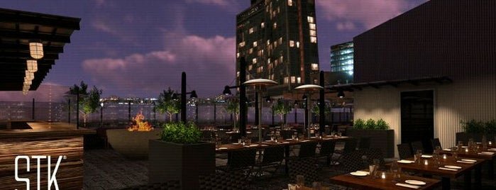 STK Rooftop is one of Celia and Dima visit NYC.