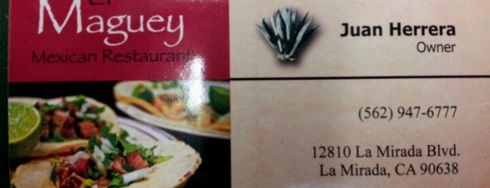 El Maguey is one of Eats.