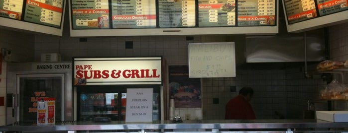 Pape Sub & Grill is one of Daniel's Saved Places.