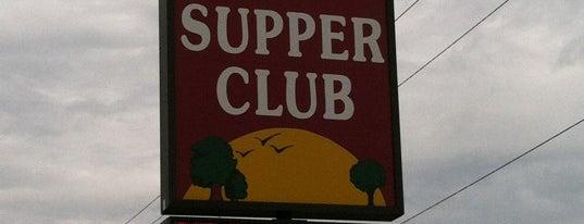 Out-O-Town Supper Club is one of Tempat yang Disukai Brett.