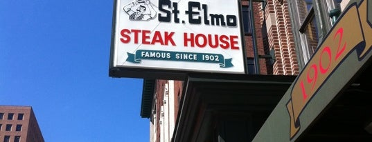 St. Elmo Steak House is one of Diners Drive-Ins and Dives & Roadfood.