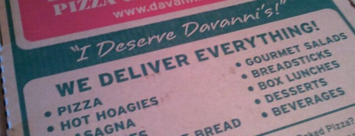 Davanni's Pizza and Hot Hoagies is one of Restaurants.