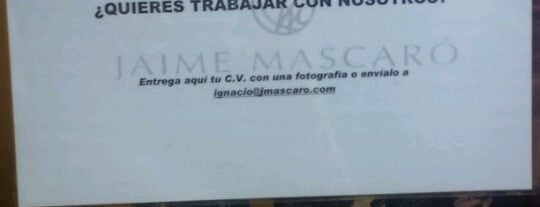 Jaime Mascaro is one of Ofertas de Trabajo Comercios Barcelona.