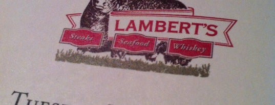 Lambert's is one of Locais salvos de Kat.