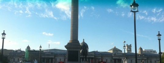 Trafalgar Square is one of Dirty FUXX's Guide to London on the Cheap.