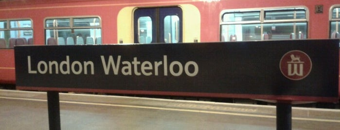 London Waterloo Railway Station (WAT) is one of You calling me a train spotter?.