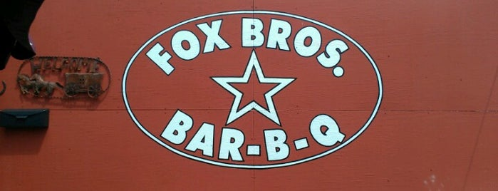 Fox Bros. Bar-B-Q is one of Jezebel Magazine's 100 Best Restaurants 2012.