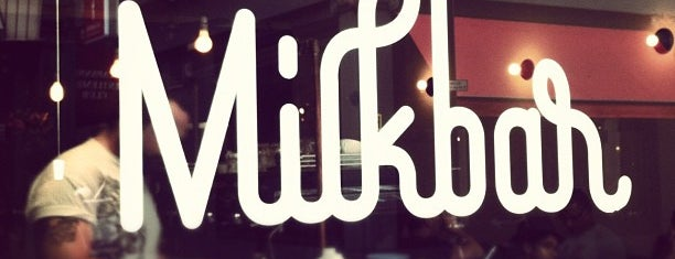 Milkbar is one of London's coffee shops.