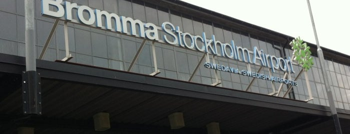 Stockholm-Bromma Airport (BMA) is one of Airports.