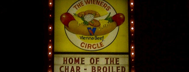 The Wiener's Circle is one of Chicago food.