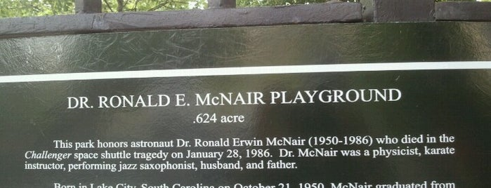 Dr. Ronald McNair Park is one of Lugares favoritos de Jason.