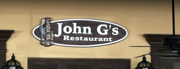 John G's is one of My Favorite Restaurants.