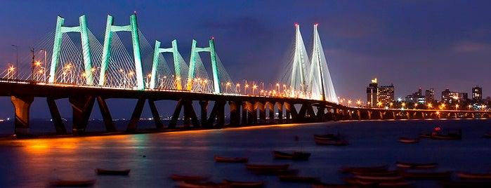 Bandra-Worli Sea Link (राजीव गांधी सेतू) is one of Mumbai, India.