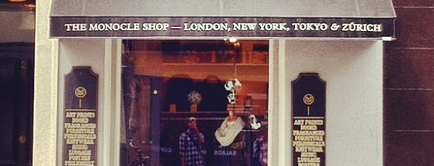 The Monocle Shop is one of Hi, London!.