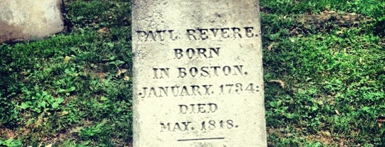 Paul Revere's Tomb is one of Beantown.