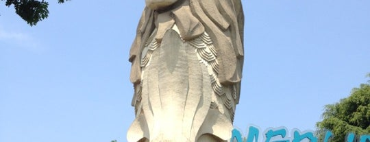 Sentosa Merlion is one of Singapore/シンガポール.