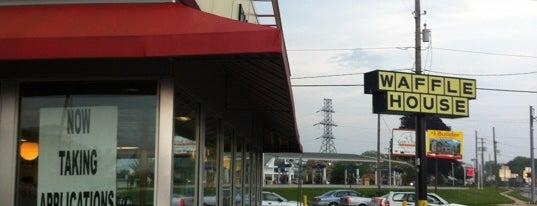 Waffle House is one of สถานที่ที่บันทึกไว้ของ Nicholas.