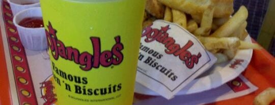 Bojangles' Famous Chicken 'n Biscuits is one of Tempat yang Disukai h.