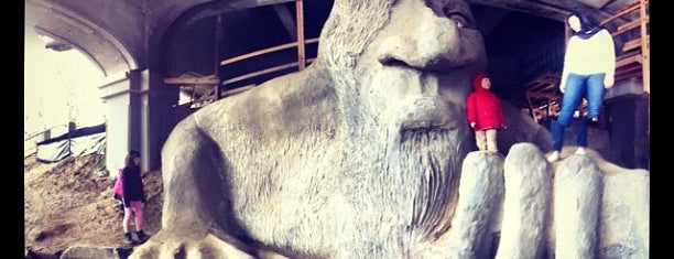 The Fremont Troll is one of Lost in Seattle.