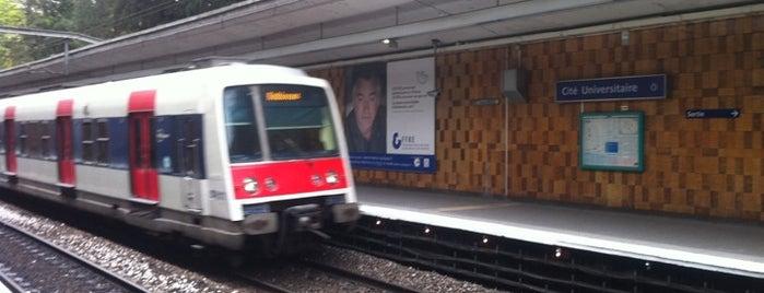 RER Cité Universitaire [B] is one of Lieux qui ont plu à Kevin.