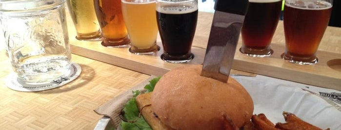 Bull City Burger and Brewery is one of Back in the 919.