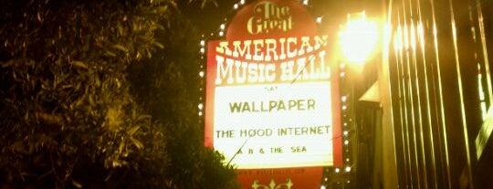 Great American Music Hall is one of #tivzlist Live Music Venues.