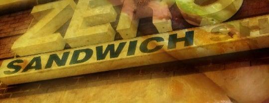 Zeros Sandwich Shop is one of Lugares favoritos de Monali.