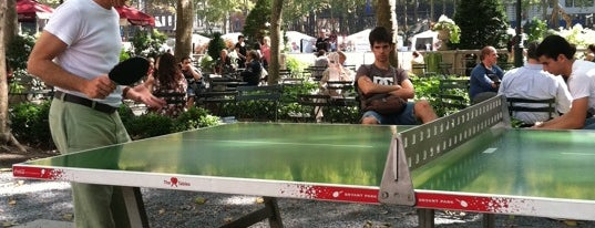 Ping Pong - Bryant Park is one of NYC Outings.