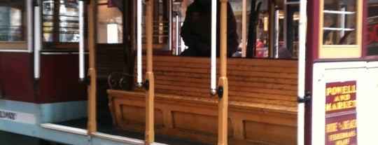 """Powell Street Cable Car Turnaround is one of The Perfect """"Mom-in-Town"""" Activities (Bay Area)."""