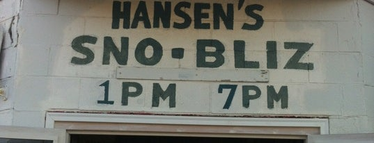 Hansen's Sno-Bliz is one of Posti che sono piaciuti a Christopher.