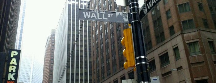 Wall Street is one of great places.