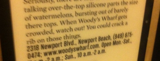 Woody's Wharf is one of Places I want to try....